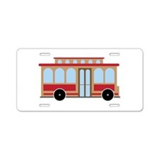 Trolley Aluminum License Plate