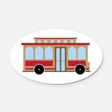 Trolley Oval Car Magnet