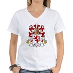 Allemand Family Crest Women's V-Neck T-Shirt