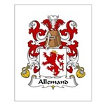 Allemand Family Crest Small Poster