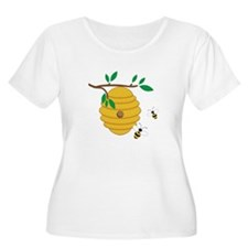 Bee Hive Plus Size T-Shirt