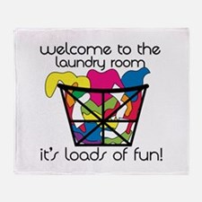 Lods Of Laundry Throw Blanket