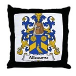 Alleaume Family Crest  Throw Pillow
