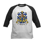 Alleaume Family Crest  Kids Baseball Jersey