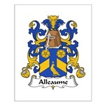 Alleaume Family Crest  Small Poster