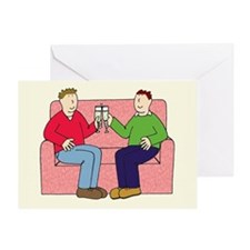 Cute Gay men Greeting Card