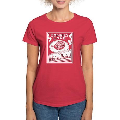 Zombies / Delicious Brains Women's Dark T-Shirt