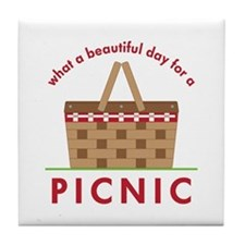 Day For Picnic Tile Coaster