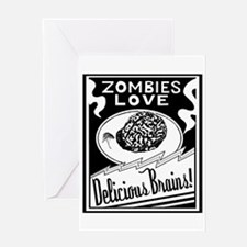 Zombies / Delicious Brains Greeting Card