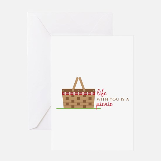 Life Is Picnic Greeting Cards
