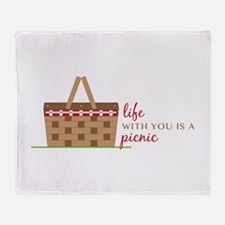 Life Is Picnic Throw Blanket