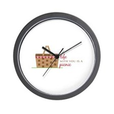Life Is Picnic Wall Clock