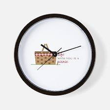 Life Is Picnic Wall Clock
