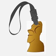 Moai easter island head Luggage Tag
