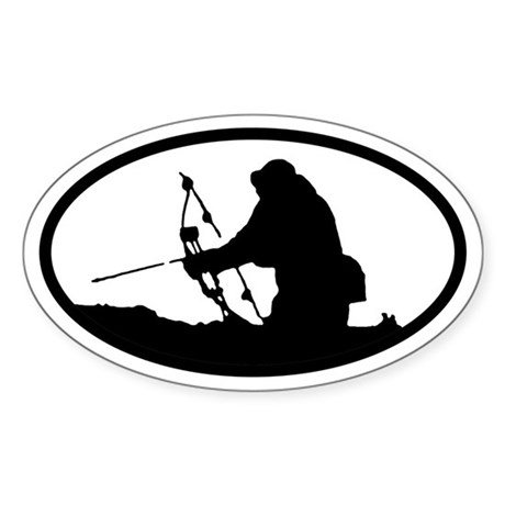 Bowhunting Oval Sticker