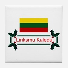 Lithuania Linksmu... Tile Coaster