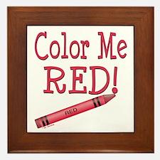 Color Me Red! Framed Tile
