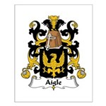 Aigle Family Crest Small Poster