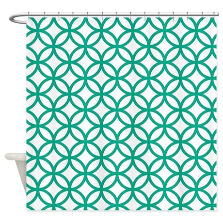 Green Decorative Pattern Shower Curtain