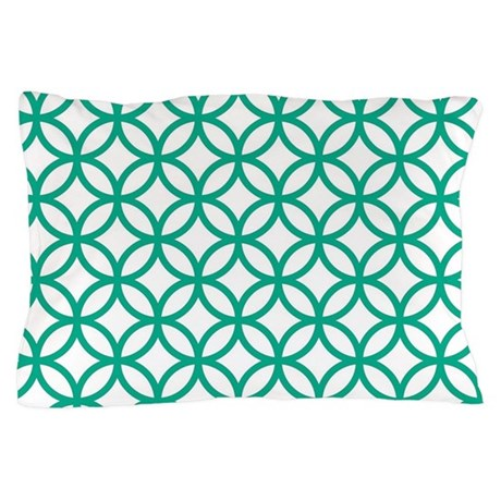 Green Decorative Pattern Pillow Case