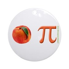 Peach Pi Ornament (Round)