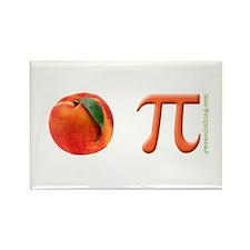 Peach Pi Rectangle Magnet