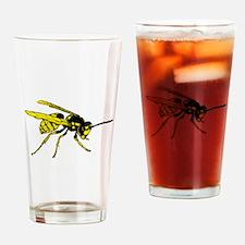 Cute Yellow jacket Drinking Glass