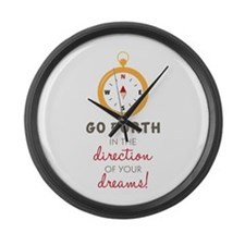 Go Forth Large Wall Clock