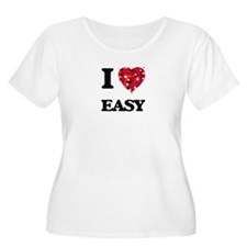 I love EASY Plus Size T-Shirt