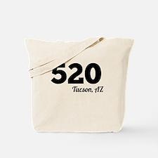 Area Code 520 Tucson AZ Tote Bag
