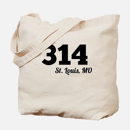 Area Code 314 St. Louis MO Tote Bag