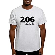 Area Code 206 Seattle WA T-Shirt