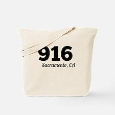 Area Code 916 Sacramento CA Tote Bag