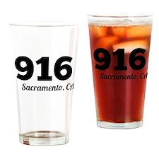 Area Code 916 Sacramento CA Drinking Glass
