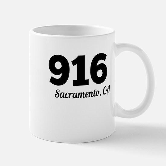 Area Code 916 Sacramento CA Mugs