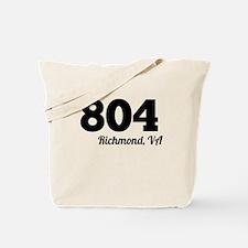 Area Code 804 Richmond VA Tote Bag