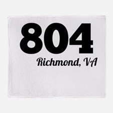 Area Code 804 Richmond VA Throw Blanket