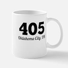 Area Code 405 Oklahoma City OK Mugs