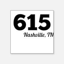 Area Code 615 Nashville TN Sticker