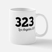 Area Code 323 Los Angeles CA Mugs