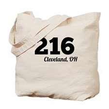 Area Code 216 Cleveland OH Tote Bag