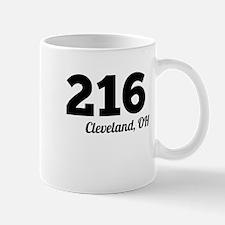 Area Code 216 Cleveland OH Mugs
