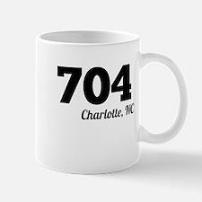 Area Code 704 Charlotte NC Mugs