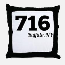 Area Code 716 Buffalo NY Throw Pillow