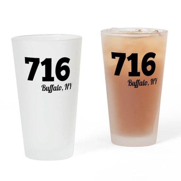 Area Code 716 Buffalo NY Drinking Glass By AreaCodesByCity