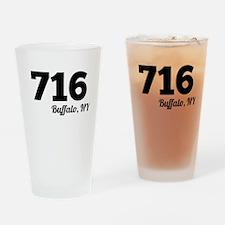 Area Code 716 Buffalo NY Drinking Glass