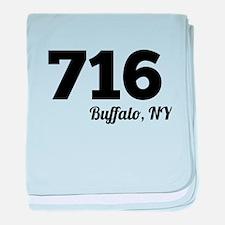 Area Code 716 Buffalo NY baby blanket