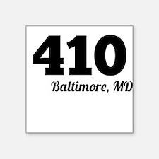 Area Code 410 Baltimore MD Sticker