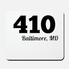 Area Code 410 Baltimore MD Mousepad