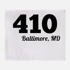 Area Code 410 Baltimore MD Throw Blanket